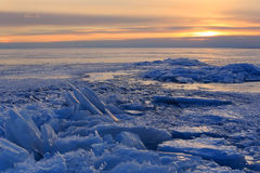 Sunset on the Gulf of Finland, St. Petersburg Stock Photography