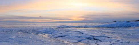 Sunset on the Gulf of Finland, St. Petersburg, Russia Stock Photography