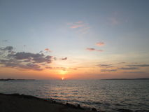 Sunset in Cariaco Gulf stock photos