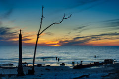 Sunset on the Gulf of Mexico Royalty Free Stock Photos