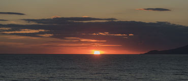 Sunset in the Gulf of Palinuro. Italy royalty free stock images
