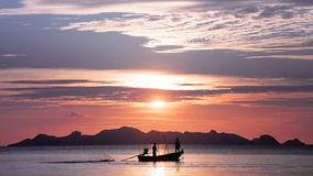 Sunset in the Gulf of Thailand Stock Photos