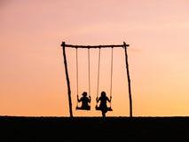 Sunset at gumuk pasir. Taken at gumuk pasir jogja Royalty Free Stock Images