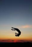 Sunset gymnast Stock Photo
