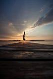 Sunset gymnast Stock Photography