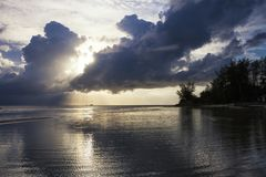 Sunset on Haad Yoa Beach on Koh Phangan Island, Thailand. Sunset upon Haad Yoa Beach on Koh Phangan Island, Thailand royalty free stock photography