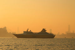 Sunset of habour Royalty Free Stock Image