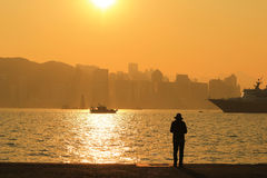 Sunset of habour Royalty Free Stock Images