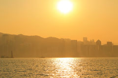 Sunset of habour Stock Image
