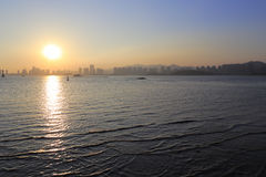 Sunset of haicang bay Royalty Free Stock Photography