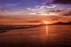 Sunset. Hainan - tropical island in China Royalty Free Stock Images