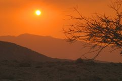 Sunset in Hajar Mountains Stock Photos