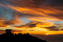 Sunset at Haleakala Stock Photography