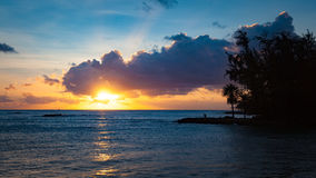Sunset in Haleiwa, Hawaii Royalty Free Stock Photos