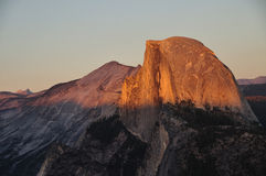 Sunset at Half-Dome. Yosemite National Park Royalty Free Stock Photos