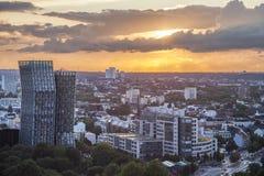 Sunset in Hamburg Royalty Free Stock Photography