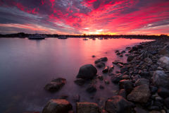 Sunset in Hampton, NH Stock Images