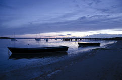 Sunset at Hamworthy Pier Royalty Free Stock Photo