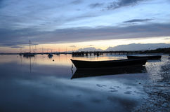 Sunset at Hamworthy Pier Stock Photo