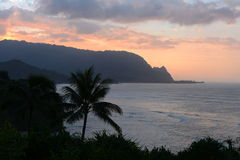 Sunset at Hanalei Bay Royalty Free Stock Photos