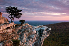 Sunset at Hanging Rock Stock Photo