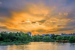The sunset Stock Photos