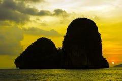 Sunset at Happy Island Stock Image
