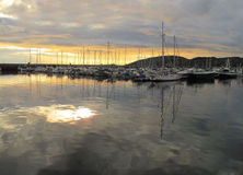 Sunset harbor - Bodo, Norway Stock Photo