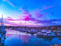 Sunset harbour royalty free stock photos