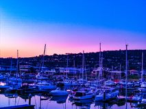 Sunset harbour Royalty Free Stock Photo