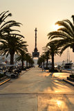 Sunset in harbour. Sunset at Tivat harbour in Montenegro Stock Photos