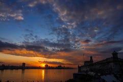 Sunset in Havana, Cuba Royalty Free Stock Image