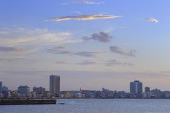 Sunset in havana skyline Royalty Free Stock Photo