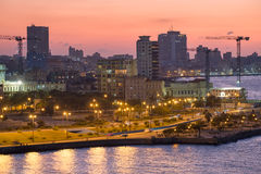 Sunset in Havana Royalty Free Stock Photography