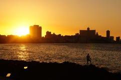 Sunset in Havana Stock Photos
