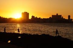 Sunset in Havana Royalty Free Stock Photography