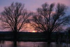 Sunset on Havel River landscape Royalty Free Stock Images