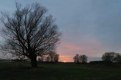Sunset on Havel River landscape Stock Photo