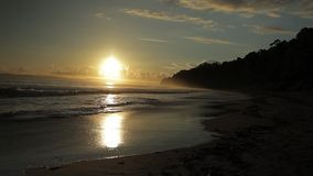 Sunset in Havelock island. Andaman islands, India stock video footage
