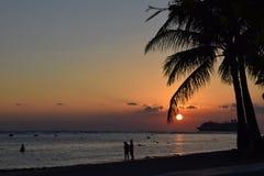 Sunset in Hawaii. Beautiful sun set in Hawaii Royalty Free Stock Image