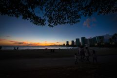 Honolulu City stock image