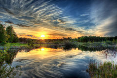 Sunset in HDR Royalty Free Stock Photography