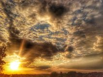 Clouds. Sunset and hdr Royalty Free Stock Images