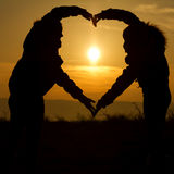 Sunset heart Royalty Free Stock Photo