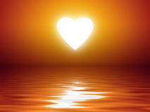 Sunset heart shape Royalty Free Stock Photo