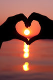 Sunset Heart Shape Stock Image