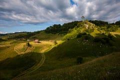 Sunset in the heart of Transylvanian mountains , Fundatura Ponorului, Romania Stock Photography