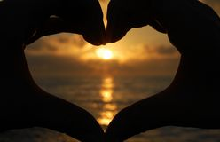 Sunset heart Royalty Free Stock Image