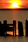 Sunset Hecla Island Manitoba Canada. Sunrise silhouette Royalty Free Stock Photography