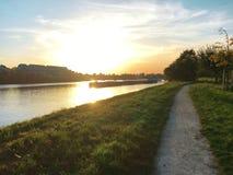 Sunset in Heidelberg,Germany. Sunset river in Heidelberg Germany,Europe Royalty Free Stock Images